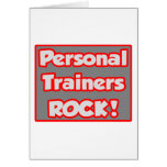 Personal Trainers Rock! Card