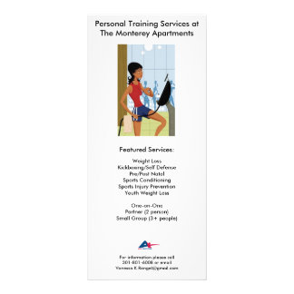 Personal Training Flyer w/ Rates Rack Card Template