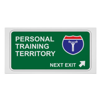 Personal Training Next Exit Poster