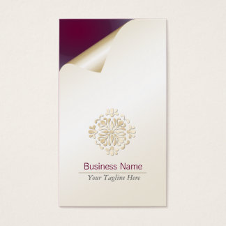 Personal Tutor Business Card Gold Floral Flourish