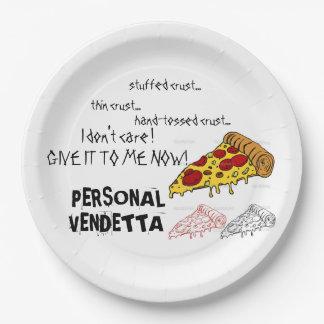 Personal Vendetta paper pizza plates for pizza !