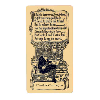 Personal Vintage Bookplate Labels