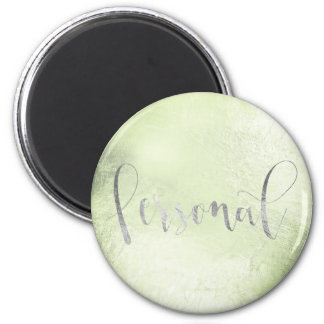 Personal Weekly Planner Mint Green Silver Gray Magnet