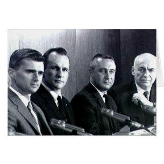 Personales del programa espacial de Apolo uno Tarjetas