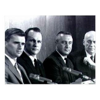 Personales del programa espacial de Apolo uno Postales