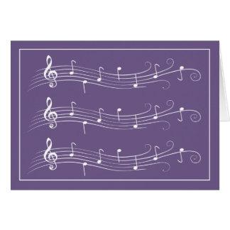 Personales enrollados blancos de la música en tarj tarjeta pequeña