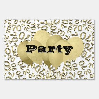 Personalice:  70.o Blanco y fiesta de cumpleaños Carteles