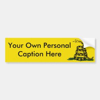Personalice a la pegatina para el parachoques pegatina de parachoque