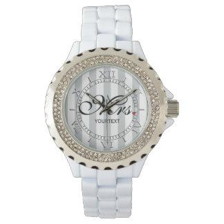 Personalice a señora Wife Bride Click para el Relojes De Pulsera