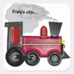 Personalice a un pegatina del tren 3D