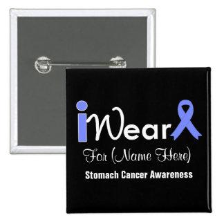 Personalice al cáncer de estómago de la cinta del pin cuadrado
