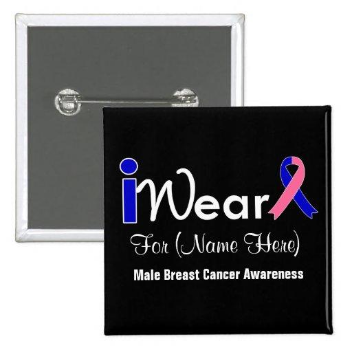 Personalice al cáncer de pecho masculino de la cin pins