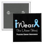 Personalice al cáncer de próstata azul claro de la pin