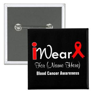 Personalice al cáncer de sangre rojo de la cinta pins