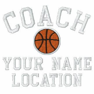 ¡Personalice al entrenador de béisbol su nombre su Polo Bordado