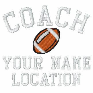 ¡Personalice al entrenador de fútbol su nombre su Polo Bordado