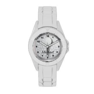 Personalice al golfista deportivo reloj de mano