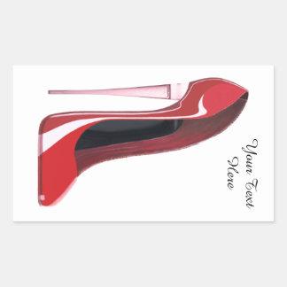 Personalice al pegatina rojo del estilete del