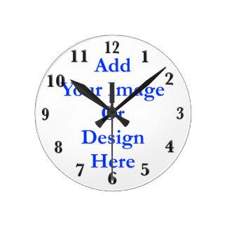 (Personalice) añada un tacto personal. Ennegrezca Reloj Redondo Mediano