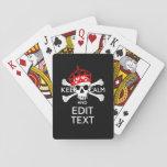 Personalice con el texto guardan el cráneo tranqui cartas de juego