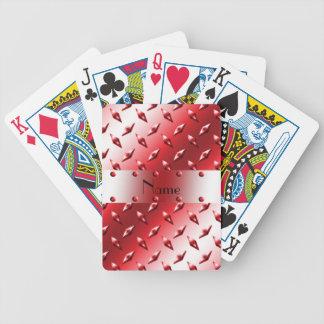 Personalice el acero rojo conocido de la placa del cartas de juego