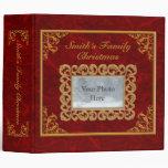 Personalice el álbum de rubíes del navidad