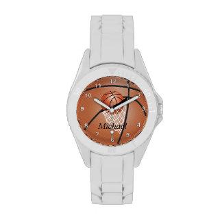 Personalice el baloncesto deportivo relojes de pulsera