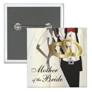 Personalice el banquete de boda y a los miembros pin cuadrado
