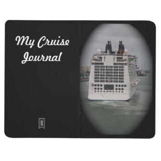Personalice el barco de cruceros que sale de la fo cuadernos