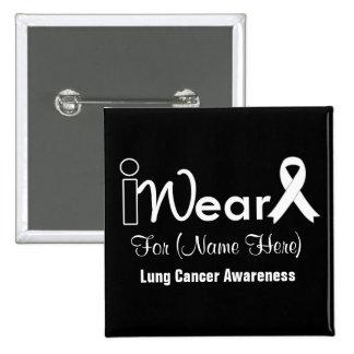 Personalice el cáncer de pulmón de la cinta de la pin cuadrado
