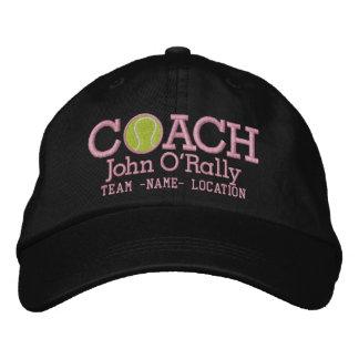 Personalice el casquillo del coche de tenis su nom gorras de béisbol bordadas