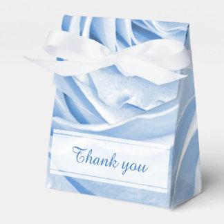 Personalice - el centro color de rosa azul de la caja para regalo de boda