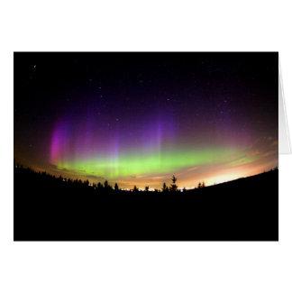 Personalice el cielo de Borealis de la aurora de l Tarjeta De Felicitación