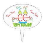 PERSONALICE el cumpleaños del campo a través Decoración Para Tarta