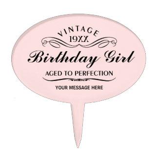 Personalice el cumpleaños divertido figura de tarta