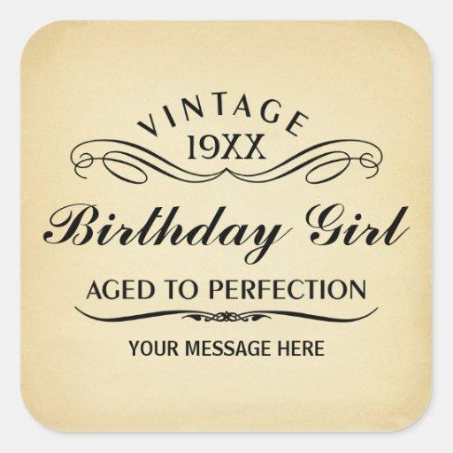 Personalice el cumpleaños divertido pegatina cuadrada