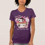 Personalice el cupacke lindo del cráneo del kawaii camiseta