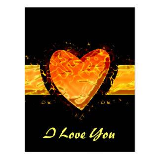 Personalice el el día de San Valentín anaranjado Postal