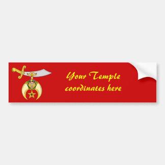 Personalice el emblema de Shriners Pegatina Para Auto
