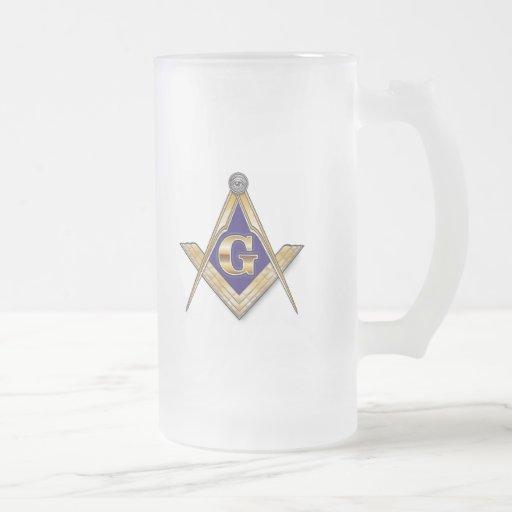 Personalice el emblema masónico y de Shriners Taza De Cristal