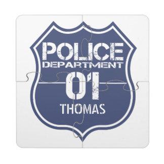 Personalice el escudo 01 del Departamento de Posavasos De Puzzle