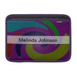 Personalice el extracto púrpura del color funda para macbook air