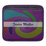 Personalice el extracto púrpura del color funda para iPads