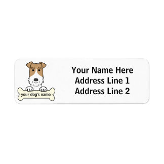 Personalice el fox terrier del alambre etiquetas de remite