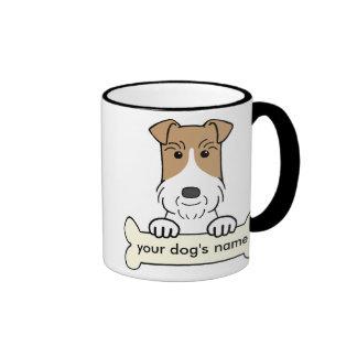 Personalice el fox terrier del alambre taza a dos colores