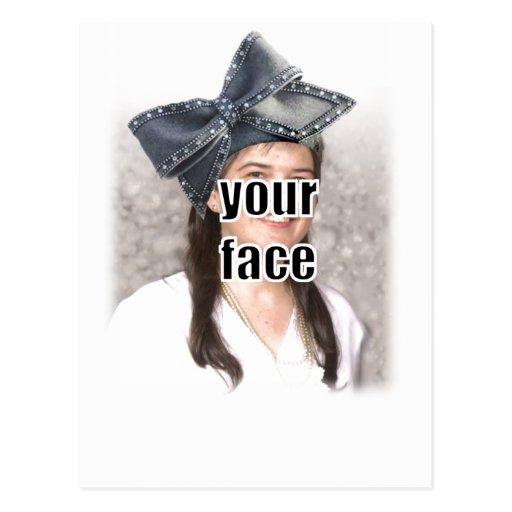Personalice el gorra grande del arco tarjetas postales
