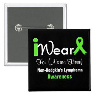 Personalice el linfoma Non-Hodgkin de la verde Pin Cuadrado