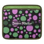 Personalice el modelo de puntos verde rosado mangas de iPad