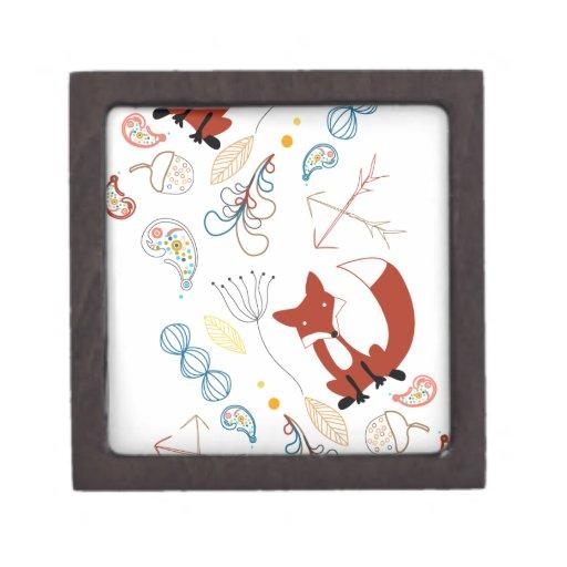 Personalice el modelo moderno del arbolado del Fox Cajas De Joyas De Calidad