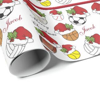 Personalice el navidad de las bolas el | del papel de regalo